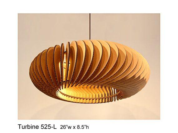 Pendant Lighting Turbine 525L  laser cut by rusticluxmodern, $188.00