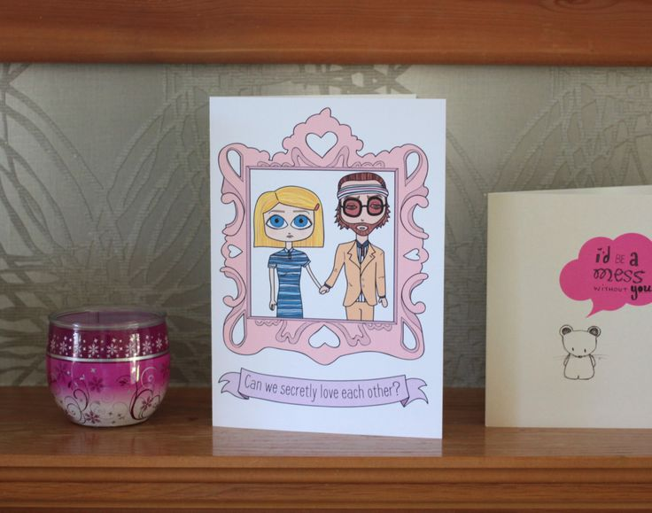 Royal Tenenbaums art card on Etsy - 'Can we secretly love each other?'
