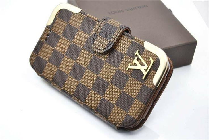 Louis Vuitton Grid Galaxy Note 2 Case N7100 Leather Case - Brown Plaid