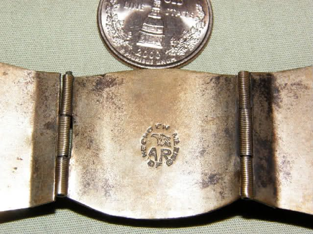 dating mexican silver jewelry and eagle mark