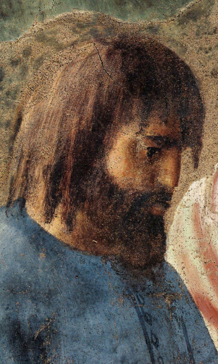 5- MASACCIO - Battesimo del Neofiti (dettaglio) - affresco - 1425-1426 circa - Cappella Brancacci (parete destra) - Chiesa di Santa Maria del Carmine a Firenze.