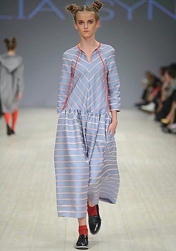 Шелковое платье в полоску от LIA SYN