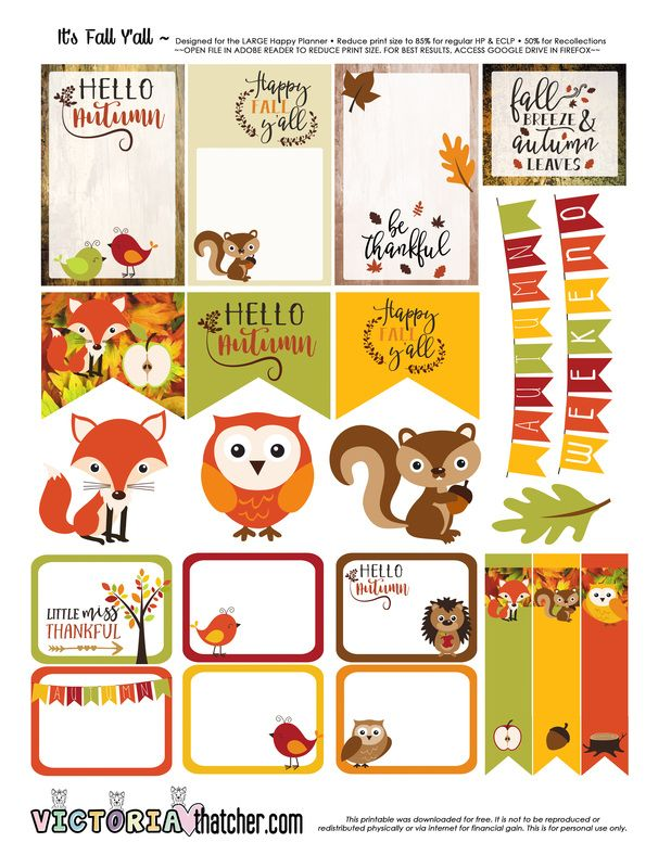 FREE It's Fall Y'All Planner Printable by Victoria Thatcher