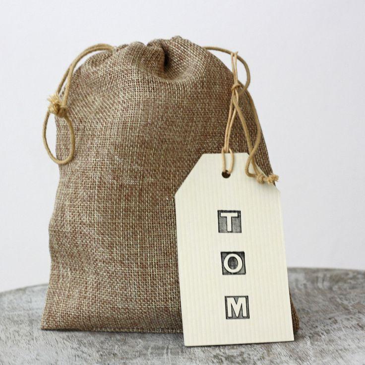 Hessian Drawstring Bag Wedding