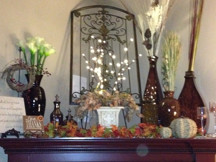Above My Corner Fireplace Mantel Got Ideas From Http