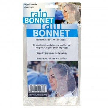 Bouffant Style Rain Bonnet (Wholesale Lot of 24)