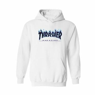 THRASHER sweatshirt-pull-over oversize à capuche homme-femme hoodies-hooded d'automne manches longues hip-hop grande taille 2XS-4XL Blanc - Achat / Vente sweatshirt - Soldes * Cdiscount