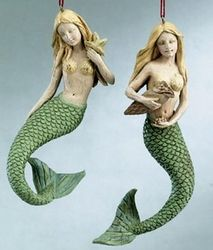 These mermaids will make a pretty fan pull, in a beach room