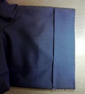 Способ изготовления неотрезных манжет на рукавах рубашки