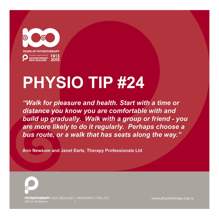 walk for pleasure and health #100tips #physiotips