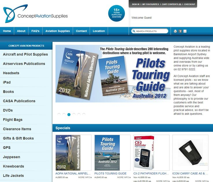 Concept Aviation Supplies has become Australia's favourite #online #shopping experience for #pilot #supplies. #Flexe #Shopping #Cart #Software is the perfect solution!