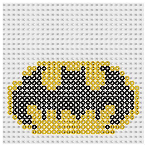 Plantilla Hama Batman (Superheroes) www.tuburbuja.es