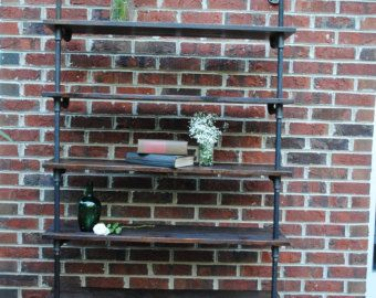 Loft Style Industrial Steel Pipe Shelving by StandingWaveWoodwork