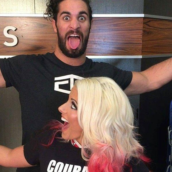 Alexa Bliss and Seth Rollins