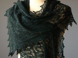Get ready to experience pure elegance with this lacy Mystic Forest Shawl.  To ease its construction, knitting instructions and lace charts are both included in the pattern.  Whether you make your own for a chilly evening in the summer or if you're ho