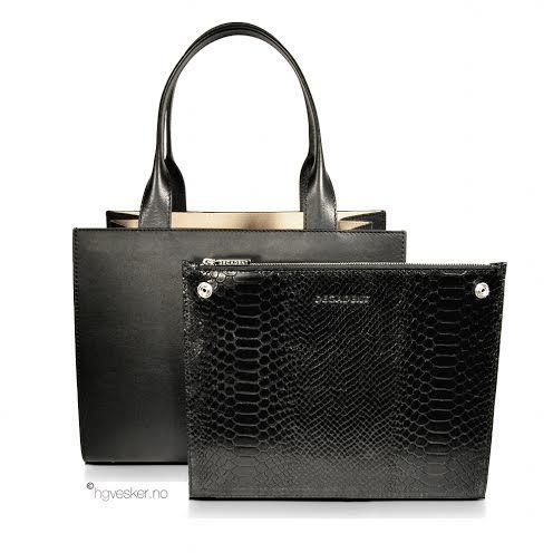 Fantastisk nyhet på www.hgvesker.no - Decadent 565 Small Bag with Clutch Black.