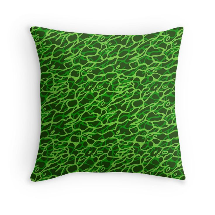 """Green seamless pattern"" Throw Pillows by Stock Image Folio 