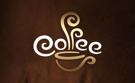 coffee. Good idea for a coffee logo for a buisness card or for a sign - encorporate the coffee steam with the f's