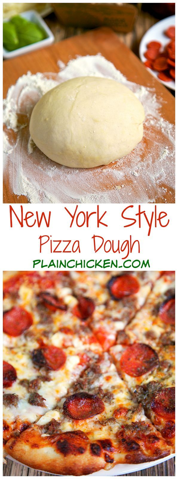 New York Style Pizza Dough | Plain Chicken®