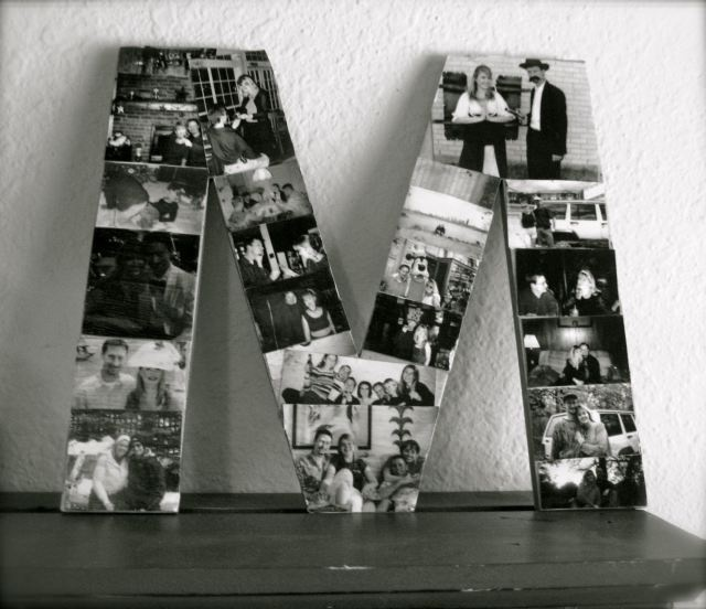 Letter Picture Collage...love it!