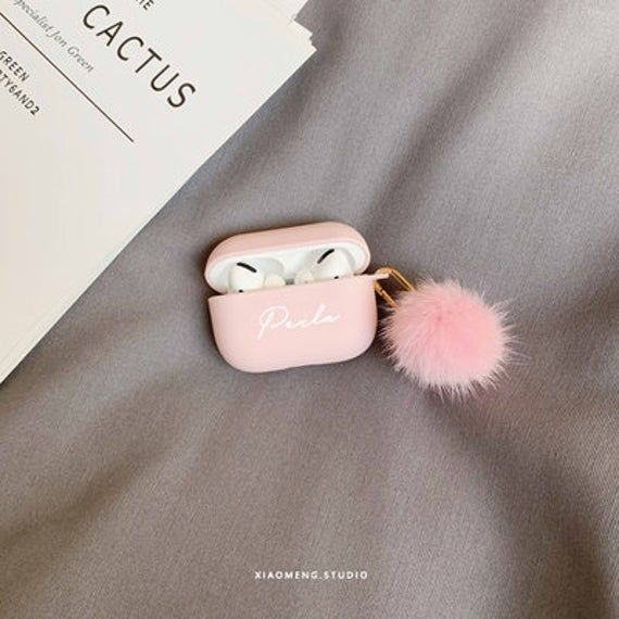 Custom Airpod Pro Case With Pom Pom Keychainshock Proof Etsy In 2021 Diy Iphone Case Airpod Pro Earbuds Case