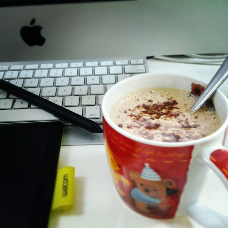 Break time: let's drink hot chocolate