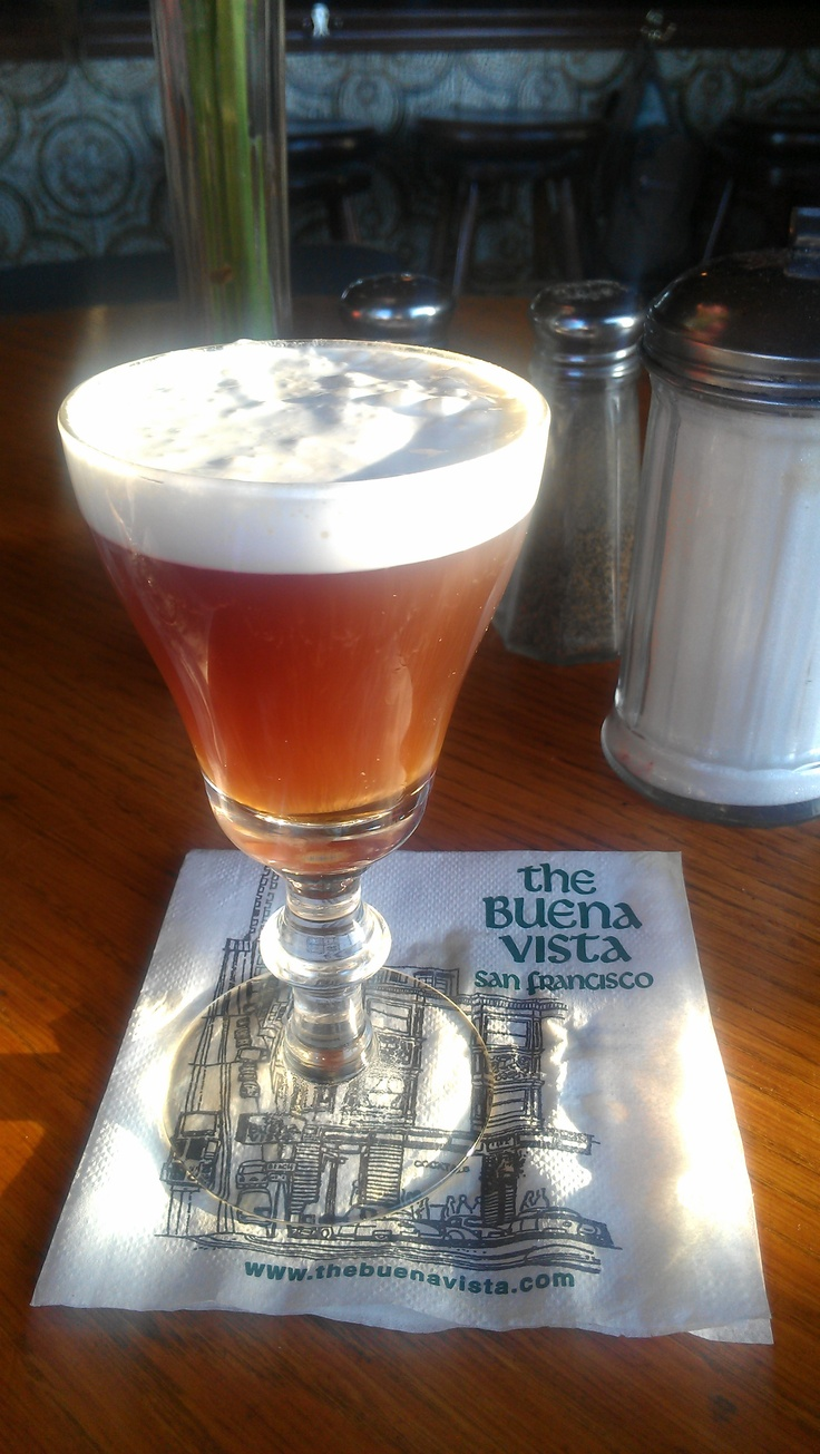 Irish Coffee at Buena Vista Cafe~my husband took me here. Looking forward to getting back to San Francisco~
