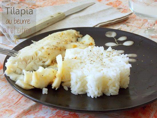 Tilapia sauce au beurre, citron et à l'ail