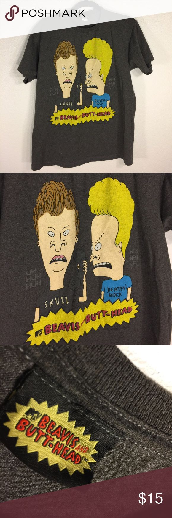 Beavis And Butthead T Shirt - Sz Medium MTV's Beavis And Butthead T Shirt | Sz M | Condition: Pre-Owned (Washed, worn, good condition! No major flaws!) Beavis and Butthead Shirts Tees - Short Sleeve