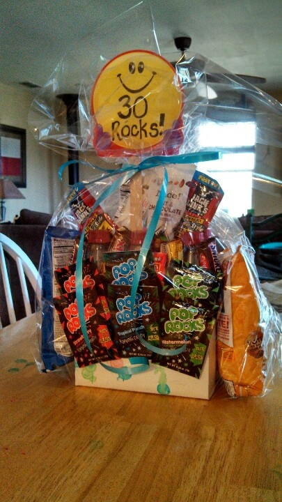 30 Rocks 30th Birthday Snack Pack This Is A Six Of My Hubbys Fav Drink Plus 24 Other Snacks To Equal I Taped The
