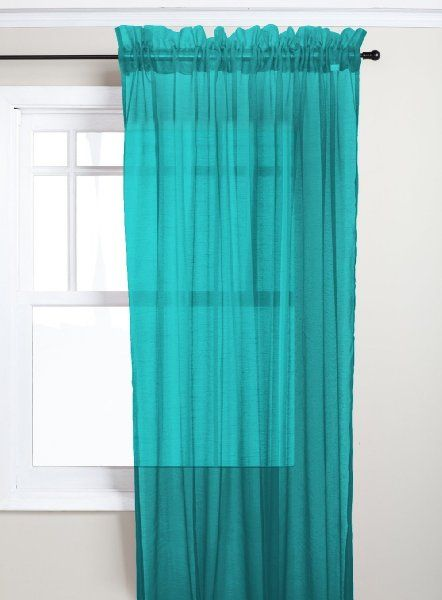 hlc me matte sheer window treatment curtain panels pair
