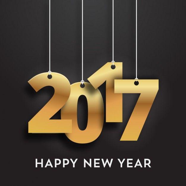 2017 con efecto dorado sobre un fondo negro Vector Gratis                                                                                                                                                                                 Más
