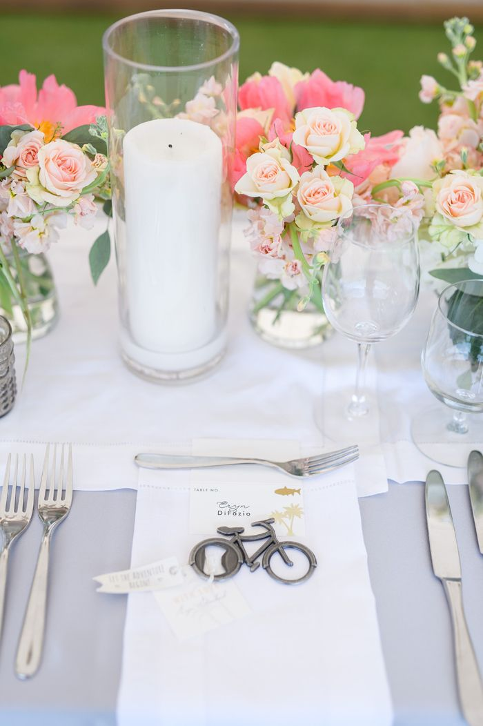 With the softest pastel florals, lavender linens, and sweet bicycle motifs, this Boca Grande, FL wedding is just the inspiration you need for Spring!