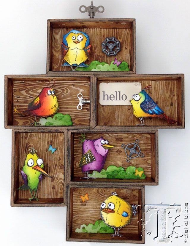 new coordinating set of bird crazy dies!!!  bobbi