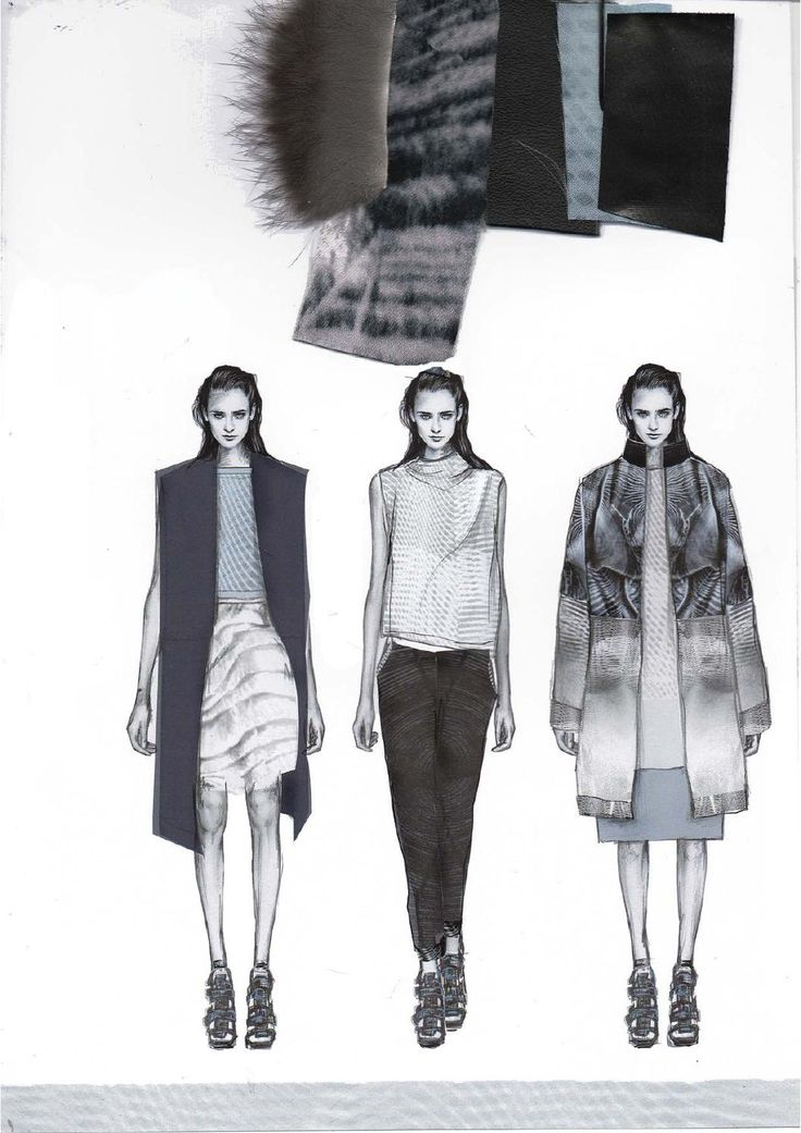 Fashion Sketchbook - fashion design drawings & fabrics; fashion portfolio layout; graduate collection development // Amy Dee