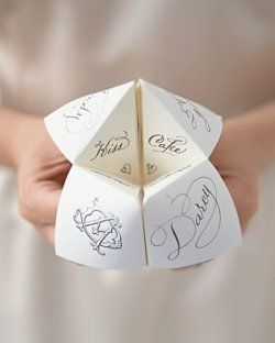 "Paper ""fortune"" tellers!"