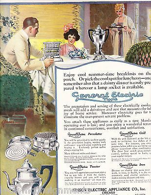 GENERAL ELECTRIC SUMMER-TIME BREAKFAST VINTAGE GRAPHIC ADVERTISING POSTER PRINT