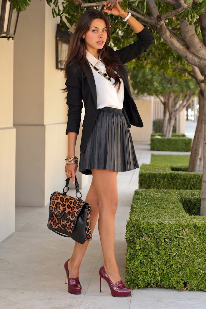 66 best Black skirt outfits images on Pinterest
