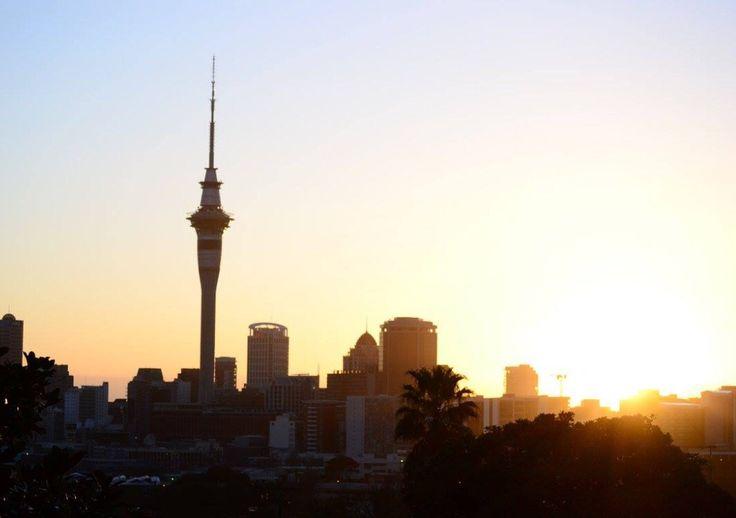 Sunrise on Auckland
