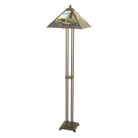 Loon Design Stained Glass Craftsman Style Floor Lamp.