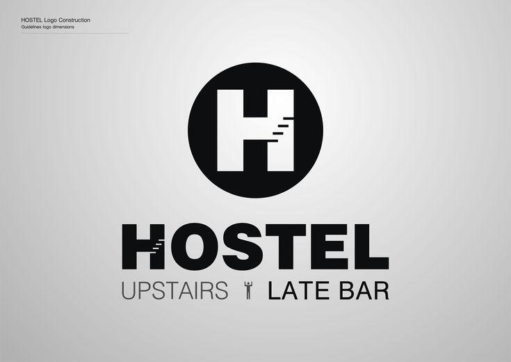 Corporate Identity Hostel_Upstairs_Late Bar_Logo_Black_Yianart