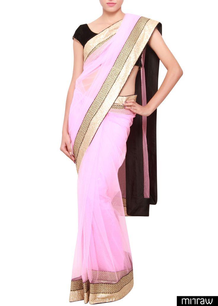 Gorgeous pink bridal saree