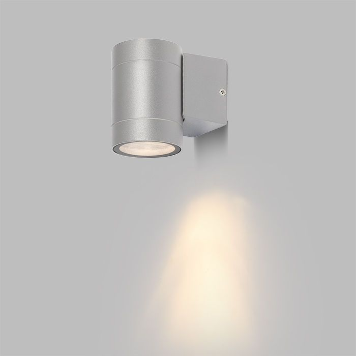 MIZZI I GU10 | rendl light studio | Outdoor wall light for unidirectional illumination. The fixture is equipped with a GU10 socket. #light #garden #wall #minimal