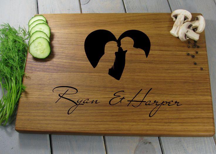Wedding Cutting Board Personalized Cutting Board Wedding Gift for Couple Engraved Cutting Board Custom Cutting Board Bridal Shower Gift by VnVbroWood on Etsy