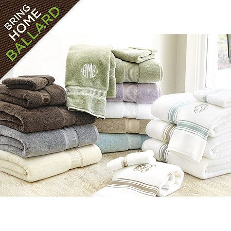 Ballard Signature Bath Towels | Gray towels, Ballard ...