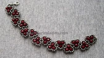 (44) Beading4perfectionists : Netted bracelet with 6mm Swarovski and seedbeads beading tutorial - YouTube