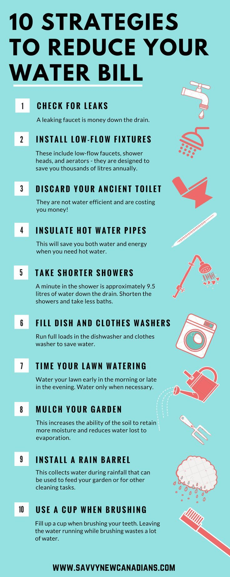 Best 25 water saving tips ideas on pinterest save water for Top 10 ways to conserve water
