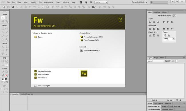 Adobe FireWorks CS 6