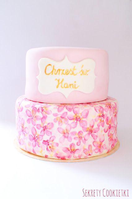 Sekrety Cookietki: Malowany tort na Chrzest Święty