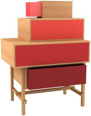Commode Terrazza Rouge / Bois naturel - Valsecchi 1918 - Décoration et mobilier design avec Made in Design